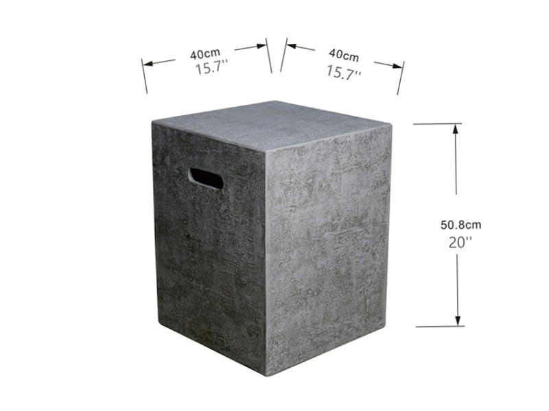 Deksel til gassflaske 5 kg – Firkant